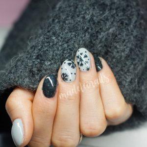 śnieżynki paznokcie