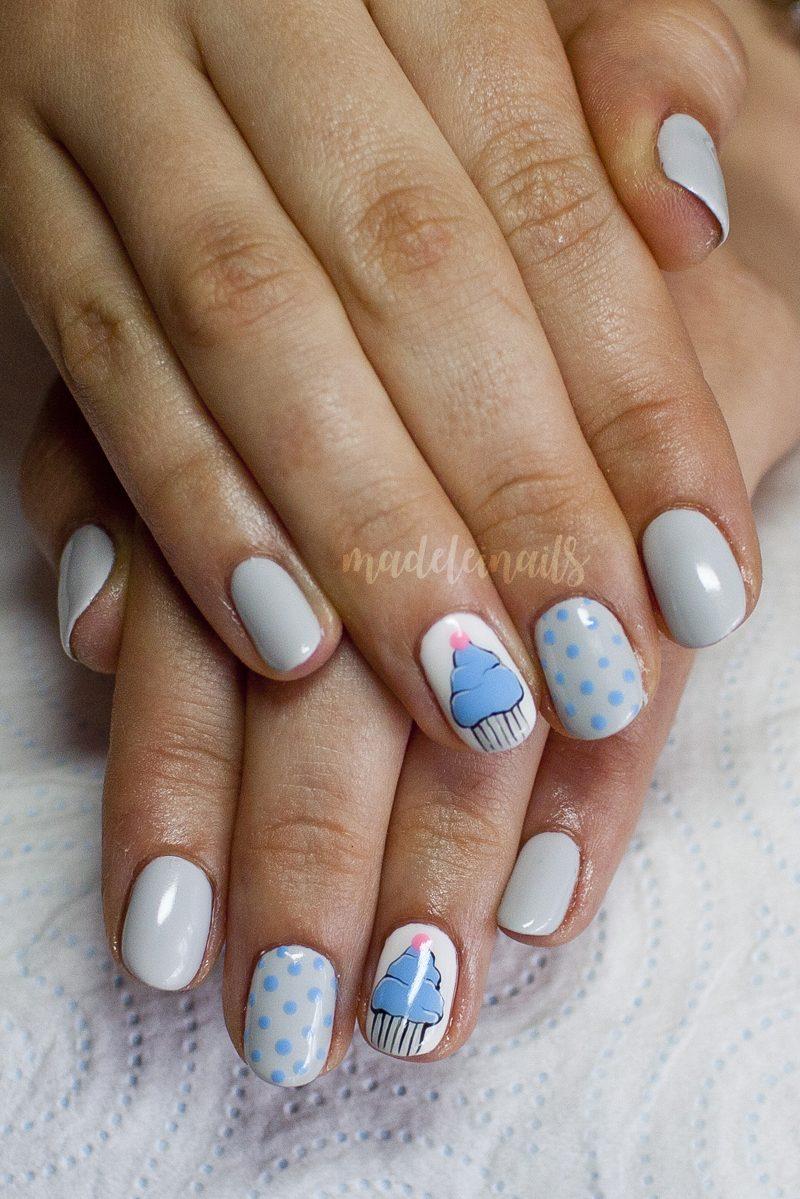babeczki paznokcie hybrydy