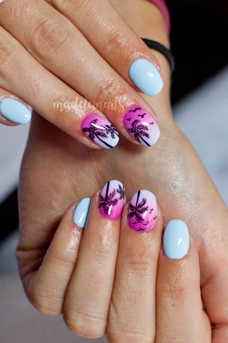 palmy na paznokciach hybrydy bydgoszcz